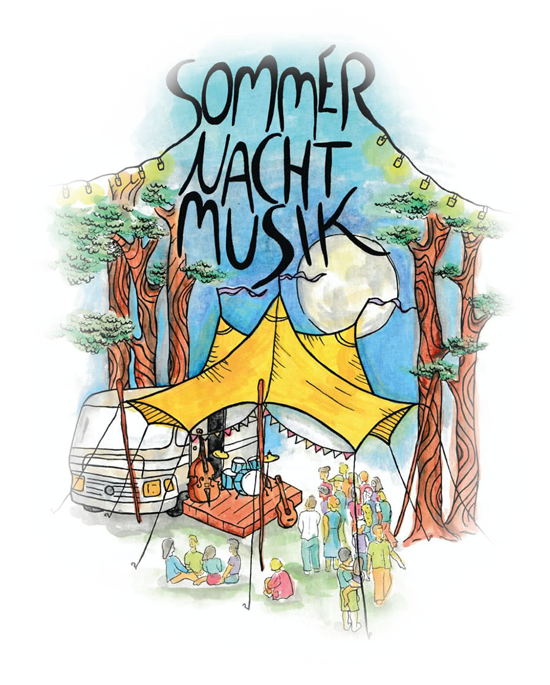 Sommer Nacht Musik Tourplakat